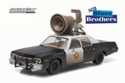 1974 Dodge Monaco Chicago Police Car, Blues Brothers - Greenlight 86423 - 1/43 Scale Diecast Model Toy Car