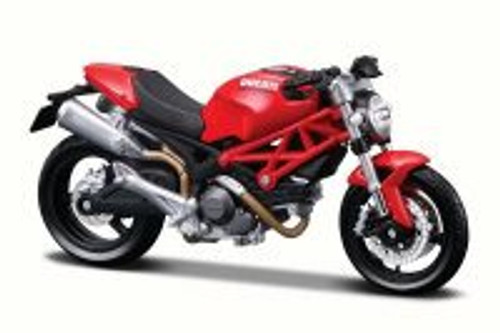 Ducati Monster 696 Motorcycle, Red - Maisto 31300/696 - 1/18 Scale Diecast Model Toy Motorcycle