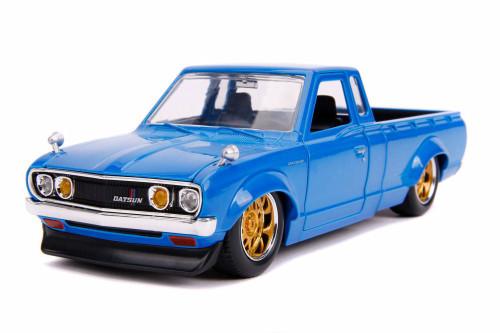 1972 Datsun 620 Pickup, Blue - Jada 31625DP1 - 1/24 scale Diecast Model Toy Car