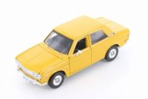 1971 Datsun 510 Hard Top, Yellow - Showcasts 34518 - 1/24 Scale Diecast Model Toy Car
