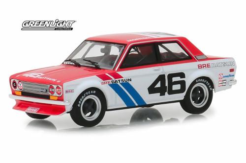 1971 Datsun 510 Hardtop, #46 - Greenlight 86335 - 1/43 scale Diecast Model Toy Car