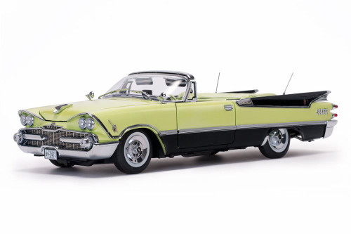 1959 Dodge Custom Royal Lancer Convertible (Top Down), Canary Yellow w/ Black Trim - Sun Star 5473 - 1/18 Scale Diecast Model Toy Car