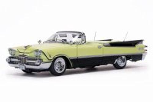 1959 Dodge Custom Royal Lancer Convertible (Top Down), Canary Yellow w/ Black Trim - Sun Star 5473 - 1/18 Scale Diecast Model Toy Car