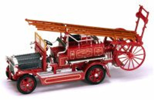 1921 Dennis N Type Fire Engine, Red - Yatming 43008 - 1/43 Scale Diecast Model Toy Car