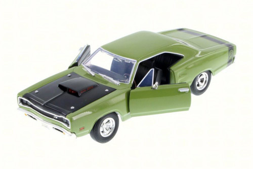 1969 Dodge Coronet Super Bee, Green - Motor Max 73315AC/GN - 1/24 Scale Diecast Model Toy Car