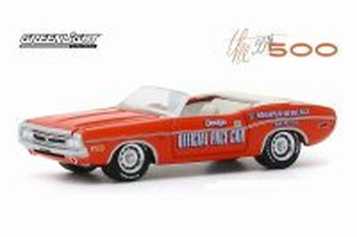 1971 Dodge Challenger Convertible, 55th Indianapolis 500 Mile Race Dodge Official Pace Car - Greenlight 30144/48 - 1/64 scale Diecast Model Toy Car
