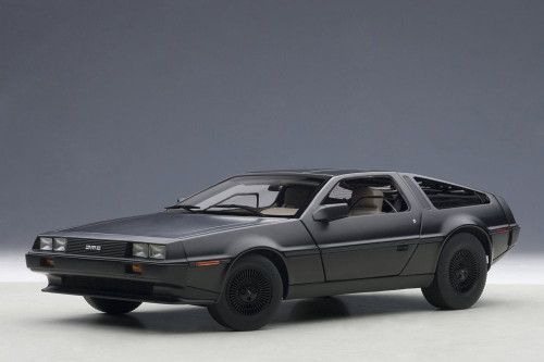 DeLorean DMC 12, Matte Black - AUTOart 79912 - 1/18 Scale Diecast Model Toy Car