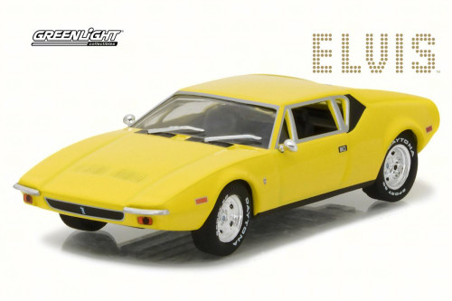 1971 Elvis Presley De Tomaso Pantera Hard Top, Yellow - Greenlight 86502 - 1/43 Scale Diecast Model Toy Car