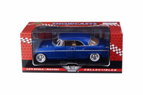 1955 Chrysler C300 Hard Top, Blue - Motor Max 73302AC/BU - 1/24 Scale Diecast Model Toy Car