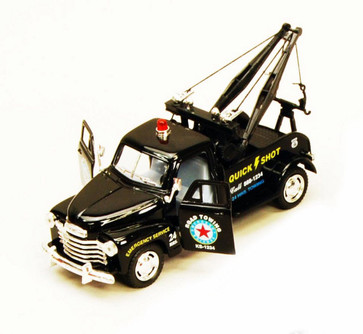 1953 Chevy Tow Truck, Black - Kinsmart 5033D - 1/38 scale Diecast Model Toy Car (Brand New, but NOT IN BOX)
