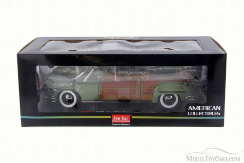 1948 Chrysler Town & Country Convertible, Green - Sun Star 6142 - 1/18 Scale Diecast Model Toy Car