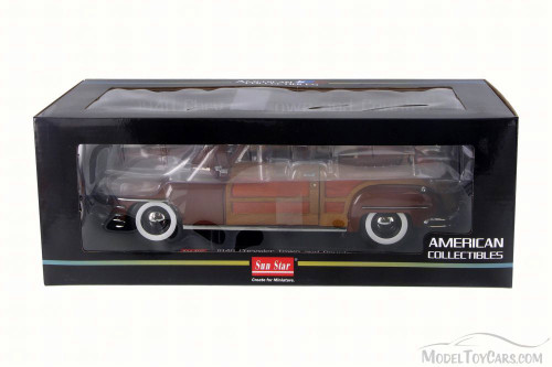 1948 Chrysler Town & Country Convertible, Brown - Sun Star 6143 - 1/18 Scale Diecast Model Toy Car