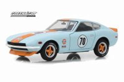 1970 Datsun 240Z Hard Top, #70 Gulf Oil - Greenlight 18302 - 1/24 Scale Diecast Model Toy Car