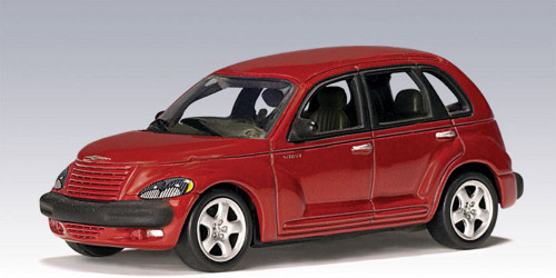 2001 Chrysler PT Cruiser, Red - Auto Art 20062 - 1/64 Scale Collectible Diecast Replica