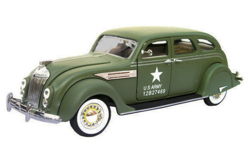 1936 Chrysler Airflow US Army Issued, Green - Signature Models 32519 - 1/32 Scale Diecast Model Toy Car