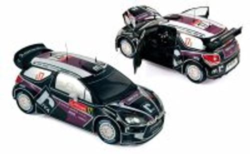 Citroen DS3 WRC Race Car #17 Merksteijn Jr/Chevailler - Rallye du Portugal 2012 - Norev 181559 - 1/18 Scale Diecast Model Toy Car