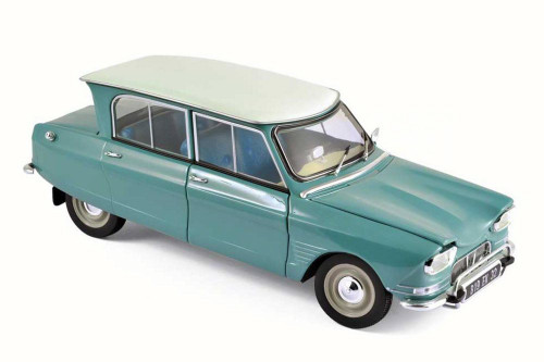 1964 Citroen Ami 6, Jade Green - Norev 181536 - 1/18 Scale Diecast Model Toy Car