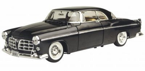 1955 Chrysler C300, Black - Motormax Premium American 73302 - 1/24 Scale Diecast Model Car
