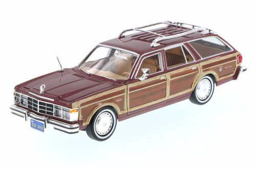 1979 Chrysler LeBaron Town & Country Wagon, Brown - Motor Max 73331/16D - 1/24 Scale Diecast Model Toy Car