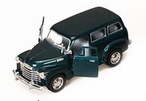 1950 Chevy Suburban, Green - Kinsmart 5006D - 1/36 scale Diecast Model Toy Car (Brand New, but NOT IN BOX)