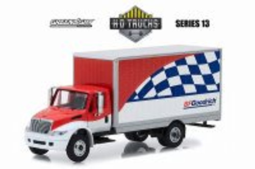2013 International DuraStar Box Van, BFGoodrich - Greenlight 33130C/48 - 1/64 Scale Diecast Model Toy Car