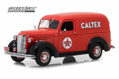 1939 Chevy Panel Truck, Caltex - Greenlight 18246 - 1/24 scale Diecast Model Toy Car