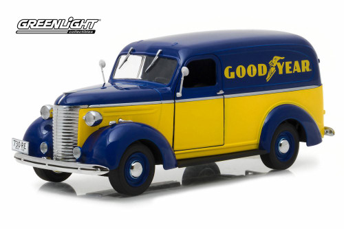 1939 Chevy Panel Truck, Good Year Tires - Greenlight 18243 - 1/24 scale Diecast Model Toy Car