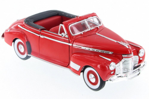 1941 Chevy Special Deluxe Convertible, Red - Welly 22411/4D - 1/24 Scale Diecast Model Toy Car