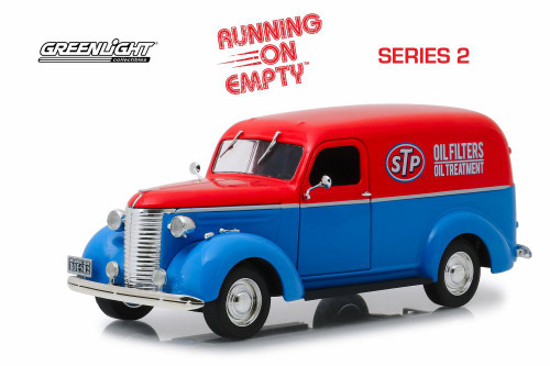 1939 Chevy Panel Truck, STP Oil - Greenlight 85022 - 1/24 scale Diecast Model Toy Car