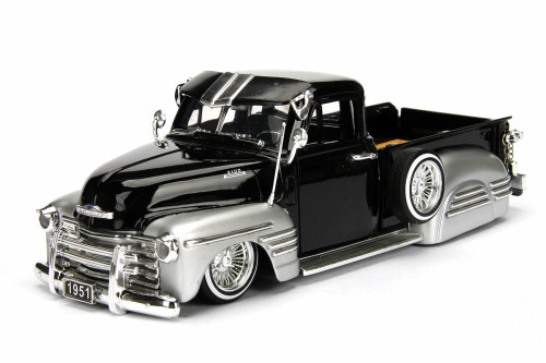 1951 Chevy Pick Up, Black w/ Silver - Jada 99036DP1 - 1/24 Scale Diecast Model Toy Car
