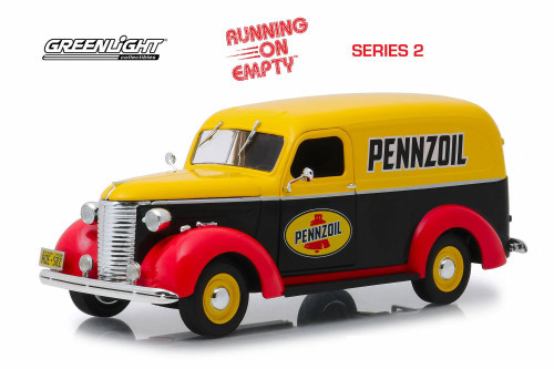 1939 Chevy Panel Truck, Pennzoil - Greenlight 85021 - 1/24 scale Diecast Model Toy Car