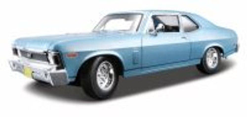 1970 Chevy Nova SS Coupe, Blue - Maisto 31132 - 1/18 scale diecast model car