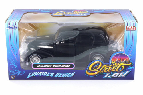 1939 Chevy Master Deluxe, Black - Jada 98913-MJ - 1/24 Scale Diecast Model Toy Car