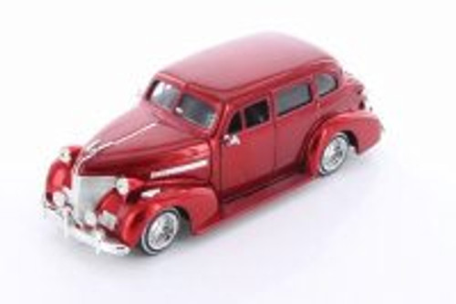 1939 Chevy Master Deluxe, Red - Jada 98915-MJ - 1/24 scale Diecast Model Toy Car