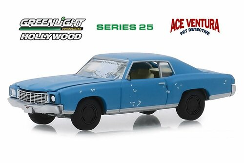 1972 Chevy Monte Carlo, Ace Ventura 'Pet Detective' - Greenlight 44850F/48 - 1/64 scale Diecast Model Toy Car