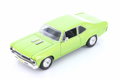 1970 Chevy Nova SS Hard Top, Green - Showcasts 34262 - 1/24 scale Diecast Model Toy Car