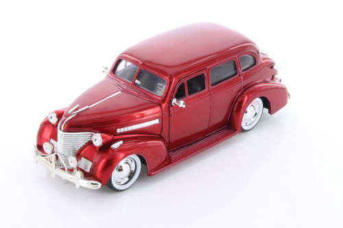 1939 Chevy Master Deluxe, Red - Jada 98882-MJ - 1/24 scale Diecast Model Toy Car