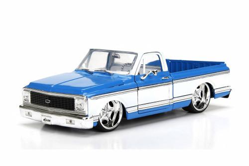 1972 Chevy Cheyenne, Blue w/ White - Jada 99048DP1 - 1/24 Scale Diecast Model Toy Car