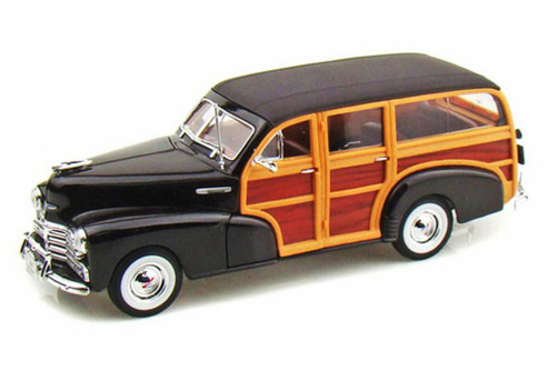 1948 Chevy Fleetmaster, Black - Welly 22083 - 1/24 scale Diecast Model Toy Car
