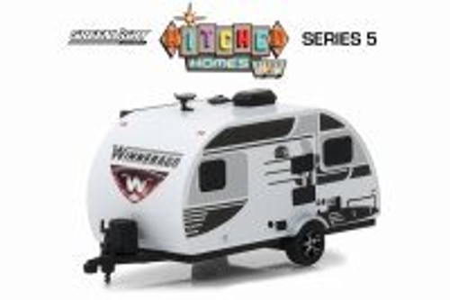 2016 Winnebago Winnie Drop 1710, White with Black - Greenlight 34050E/48 - 1/64 Scale Diecast Model Toy Car