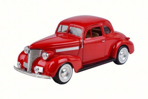 1939 Chevy Coupe, Red - Motor Max 73247W - 1/24 Scale Diecast Model Toy Car