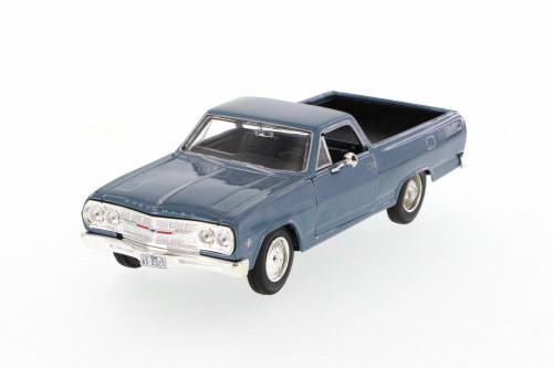 1965 Chevrolet El Camino Hard Top, Blue - Maisto 31977BU - 1/24 Scale Diecast Model Toy Car