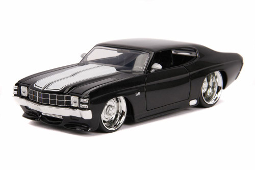 1971 Chevy Chevelle SS Hardtop, Black - Jada 31655DP1 - 1/24 scale Diecast Model Toy Car