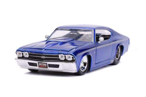 1969 Chevy Chevelle SS Hardtop, Candy Blue - Jada 31455 - 1/24 scale Diecast Model Toy Car