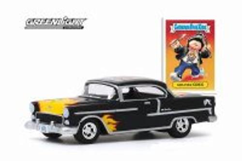 1955 Chevy Bel Air, Black - Greenlight 54030/48 - 1/64 scale Diecast Model Toy Car