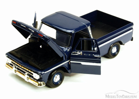 1966 Chevy C10 Pickup Truck, Blue - Motor Max 73355L - 1/24 Scale Diecast Model Toy Car