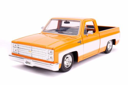 1985 Chevy C10 Pickup Stock, Orange - Jada 31623DP1 - 1/24 scale Diecast Model Toy Car