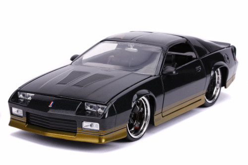 1985 Chevy Camaro Z28 T-Top, Black Metallic - Jada 31457 - 1/24 scale Diecast Model Toy Car