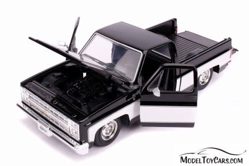1985 Chevy C10 Pickup Stock, Black - Jada 31623DP1 - 1/24 scale Diecast Model Toy Car