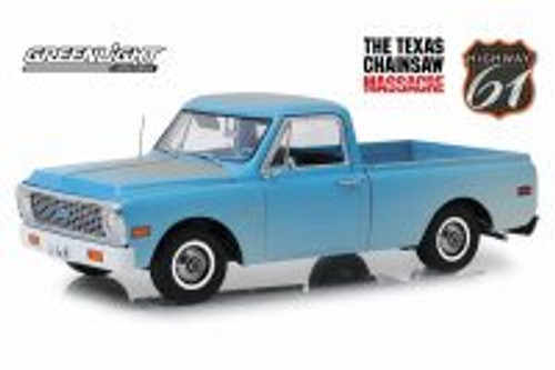 1971 Chevy C-10 Pickup Truck, The Texas Chainsaw Massacre - Greenlight HWY18014 - 1/18 scale Diecast Model Toy Car